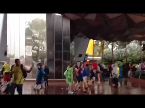 Tornado in Orlando Walt Disney World at Epcot  March 24 2013