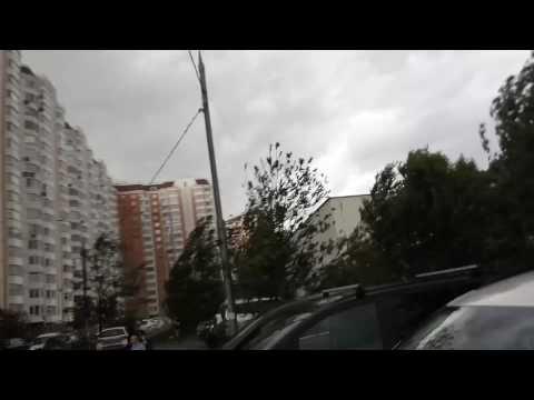 Начало урагана. Москва.