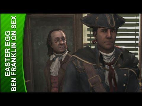 Assassin's Creed 3 Easter Egg - Ben Franklin Talks Sex video