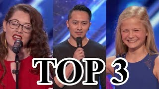 TOP 3 BEST Auditions America's Got Talent 2017