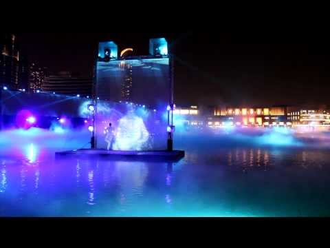 Dubai Water, Fire & Light Show - Dubai Fountain   Dubai Mall video