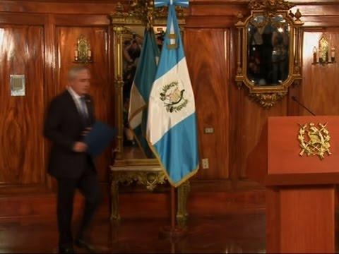 Guatemalan President Resigns