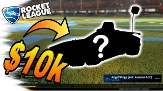The $10,000 Rocket League CAR! - Rocket League Trading (Alpha Items, Mystery Decals, White Hat)