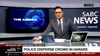 Zimbabwe protests | Police disperse crowd in Harare