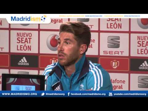 Sergio Ramos rueda de prensa, previa Final de la Copa del Rey