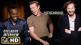 Will Poulter, William Jackson Harper & Vilhelm Blomgren Interview for Midsommar
