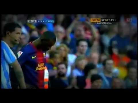Eric Abidal Praying Before Final Game   Barcelona vs Malaga 01/06/13