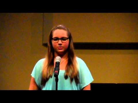 Talent Show Hillcrest Christian Academy Alanna B - 08/02/2014