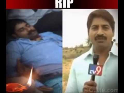 Badri TV9 News Presenter (Anchor) Died in Accident Photos Exclusive