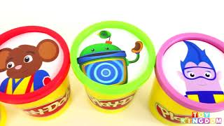 Play Doh Eggs Learn Colors with Team Umizoomi Nick Jr. Peppa Pig Disney Toys Doc McStuffin
