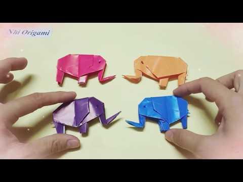 Gấp con voi bằng giấy | DIY | handmade | Origami | Gấp giấy nghệ thuật |  how to make a elefant