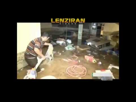Midday news report about flood in Tehran  and number of victims