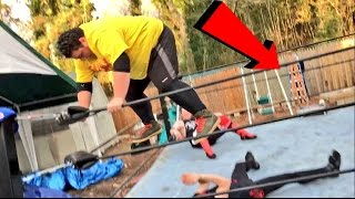 SLENDERMAN STALKS YOUTUBERS WRESTLING FOR CHAMPIONSHIP!