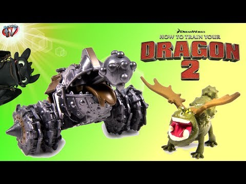How To Train Your Dragon 2: Gronckle vs Gronckle Cannon Toy Review. Spin Master