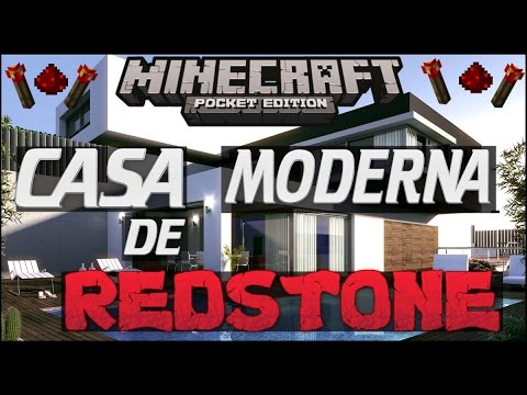 LA MEJOR CASA MODERNA DE REDSTONE PARA MINECRAFT PE 0.10.5 2015