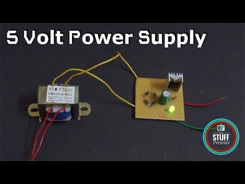 Transformer based 5 Volt power supply for Arduino   DIY