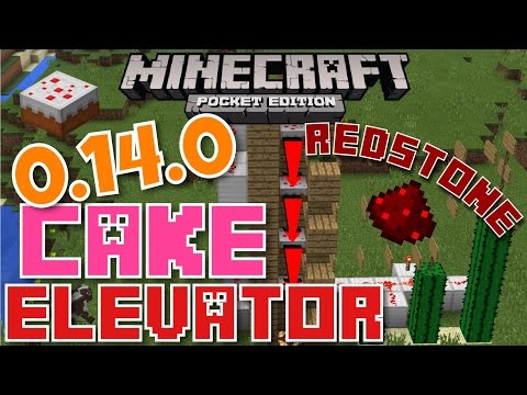 ✔️MCPE 0.14.0 CAKE ELEVATOR {REDSTONE}    Minecraft Pocket Edition 0.14.0