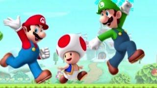 Super Mario Run - World 1 and World 2 (All Purple Coins)