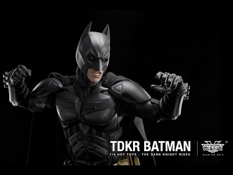The Dark Knight Rises Hot Toys Batman 1/4 Scale Collectible Movie Figure Review