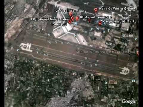Capital City Of India-------DELHI (satellite view)  HD