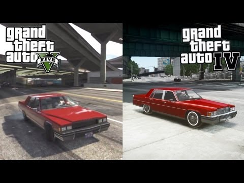 GTA V vs GTA IV [iCEnhancer Graphic Mod]