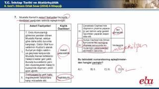 2016-2017 1. Dönem TEOG TC İnkılap Tarihi ve Atatürkçülük Soru ve Cevapları
