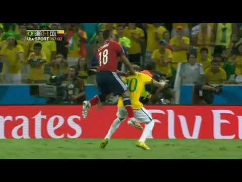 Neymar Injury ~ Broken Back vs Colombia ~ Out for rest of World Cup 2014 [reaction]