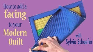 How To Add A Facing to Your Modern Quilt