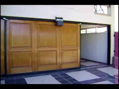 Port n corredizo de madera youtube for Portones de madera y hierro