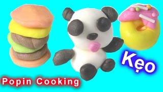 """Làm Kẹo Bằng Đồ Chơi Nhật """"POPIN COOKIN"""" - Kẹo Gấu Trúc, Hamburger, Bánh Mỳ Donut Popin Cookin"""