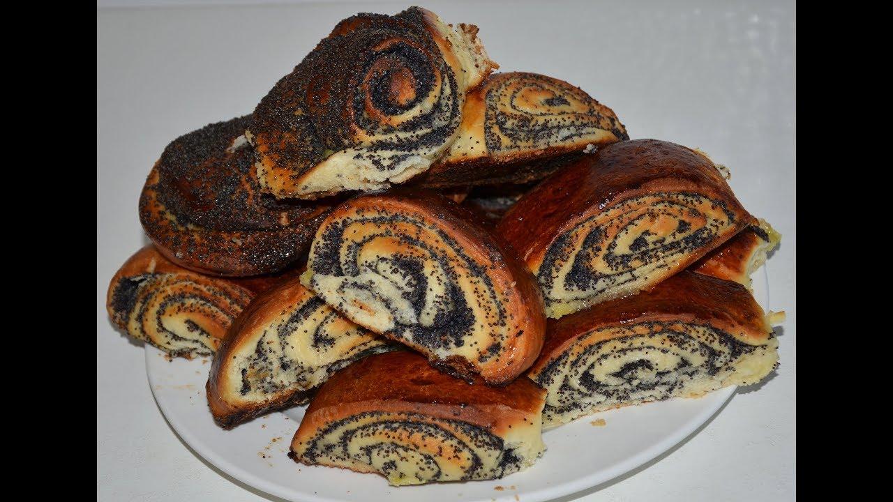Булочки дрожжевые с маком рецепт с пошагово в духовке