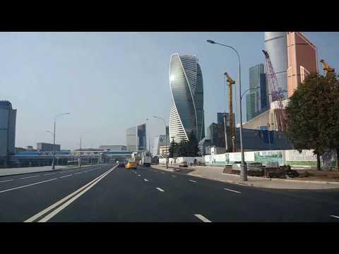. Набережная Москва-Сити. Поездка на автомобиле Hyundai Solaris от Делимобиль 2017