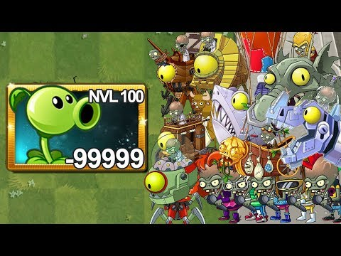 Plants Vs Zombies 2 Lanzaguisante Nivel 100 Vs Todos los Zombots
