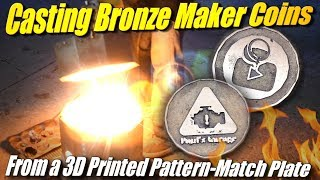 Challenge: Casting Bronze Maker Coins from a 3D Printed Pattern