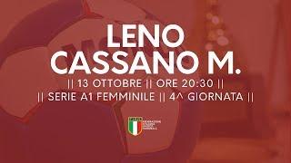 Serie A1F [4^ giornata]: Leno - Cassano Magnago 31-29