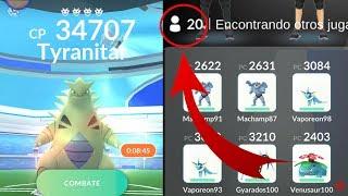 20 JUGADORES VS TYRANITAR INCURSOR!  [Pokémon GO-davidpetit]