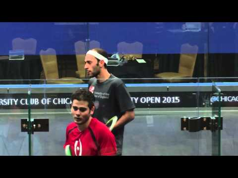 Squash: Windy City Open 2015 : Semi Final Preview - Elshorbagy Brothers video