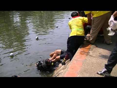 Emergency Services rescue a drowning man in Thailand