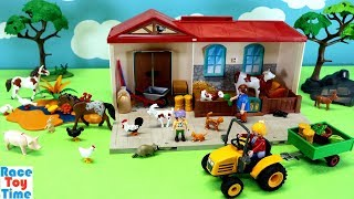 Playmobil Country Take Along Farm Stable Playset with Fun Animals Toys For Kids