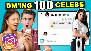 Teens React To DM'ing 100 Celebrities To See How Many Would Reply
