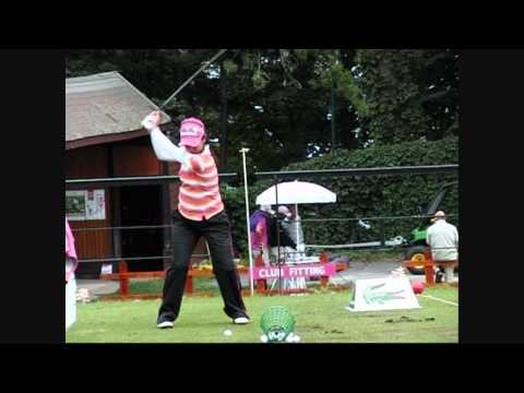 Ai Miyazato and Stacy Lewis at Evian Masters 2011