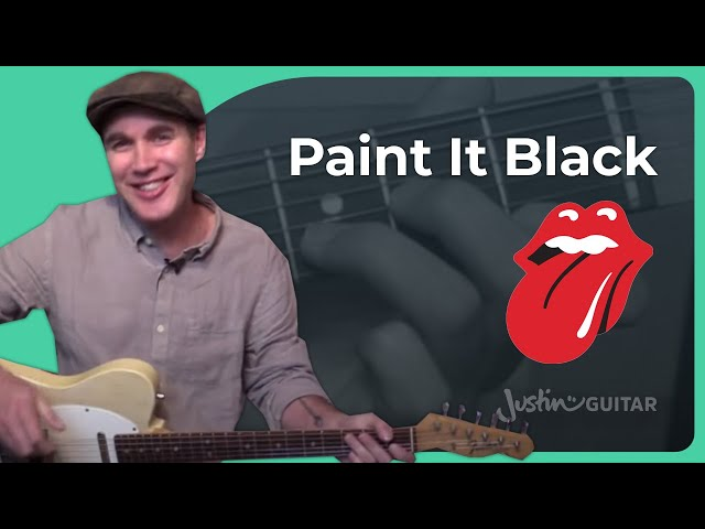 Paint It Black - Rolling Stones - Guitar Lesson (ST-332) How to play it right!