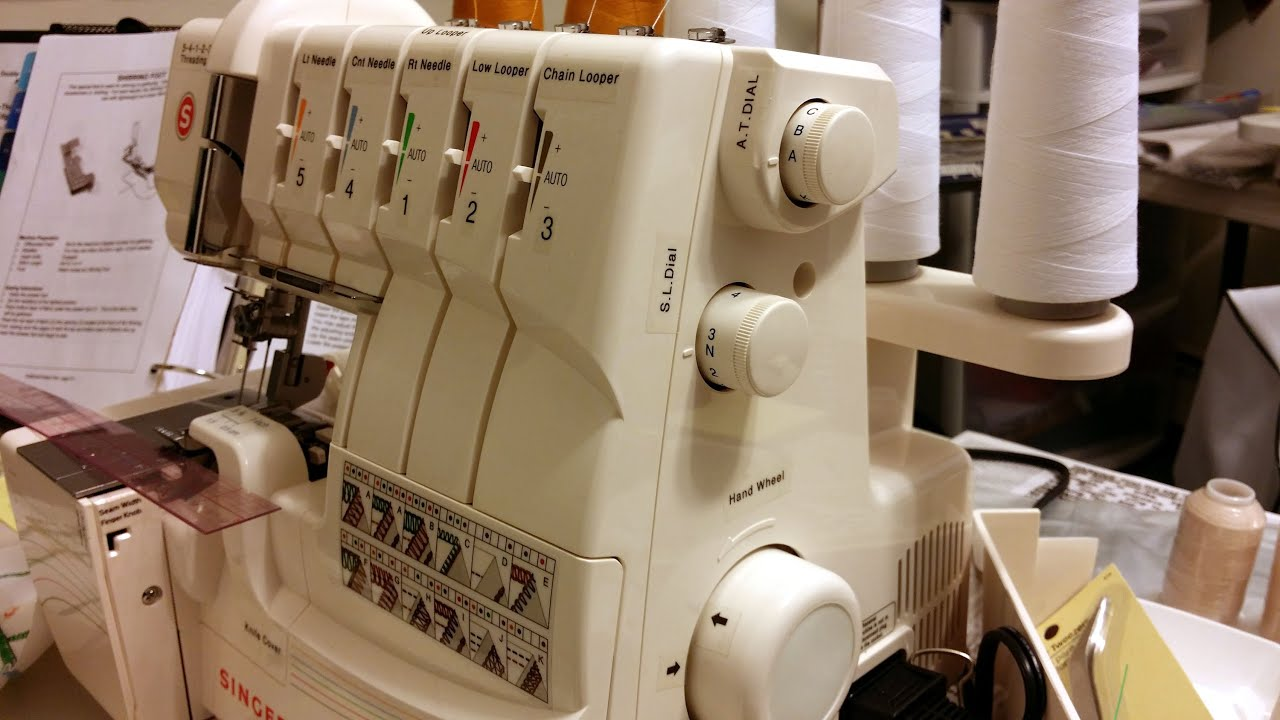 how to set up stitches for serger
