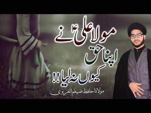 Maula Ali (a.s) Ny Apna Haq Kiun Na Liya !! | Maulana Zaigham-Al-Gharavi | 4K