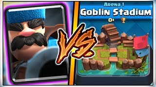 HUNTER TROLLING ARENA 1 IN CLASH ROYALE | FUNNY MOMENTS & HUNTER GAMEPLAY!