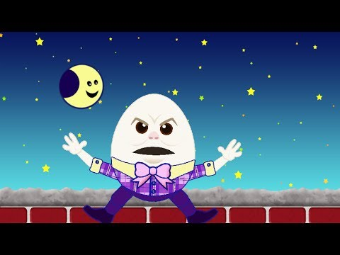 Humpty Dumpty Sat On A Wall Silly Nursery Rhymes And Funny Fairy Tales By Mother Goose video