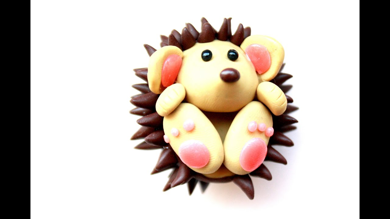 Polymer clay hedgehog tutorial youtube for Cute things to make out of clay