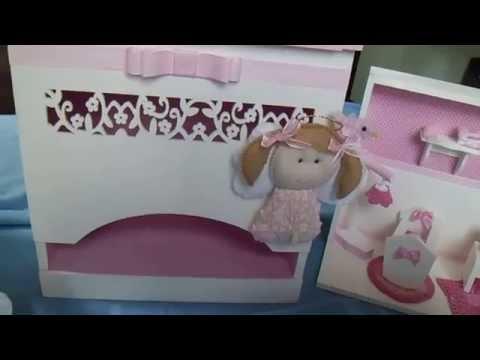 ENFEITE DE PORTA MATERNIDADE - Video do Kit de Alice