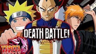 Vegeta Reacts To Naruto VS Ichigo - DEATH BATTLE