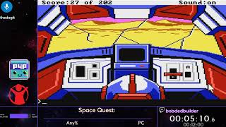 Space Quest: The Sarien Encounter (Any%) w/ bobdedbuilder - P4P Spring 2019